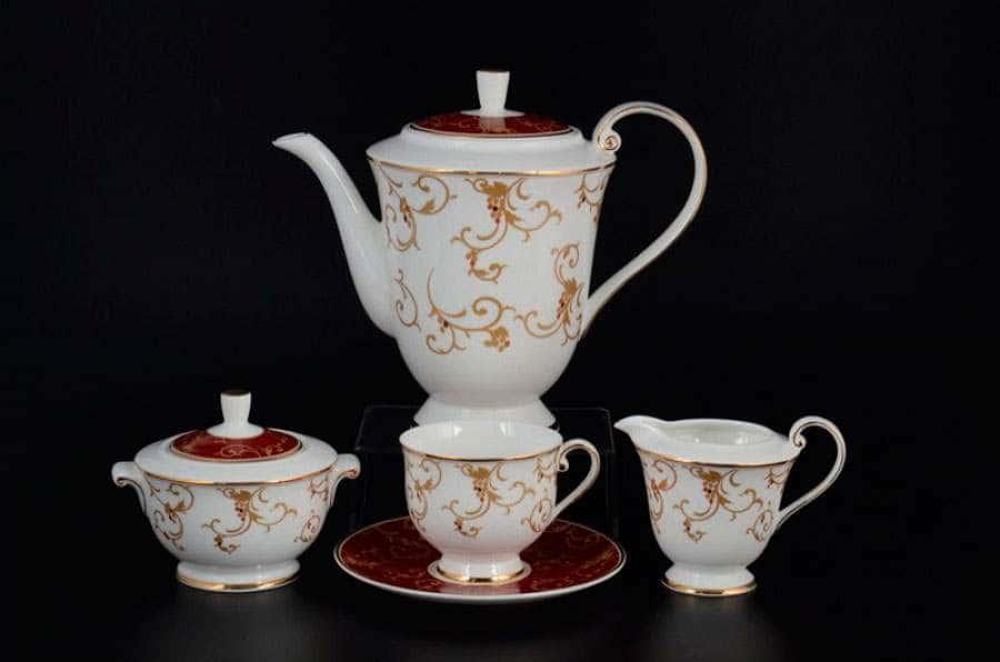 Престиж red Чайный сервиз Royal Classics на 6 персон 17 предметов