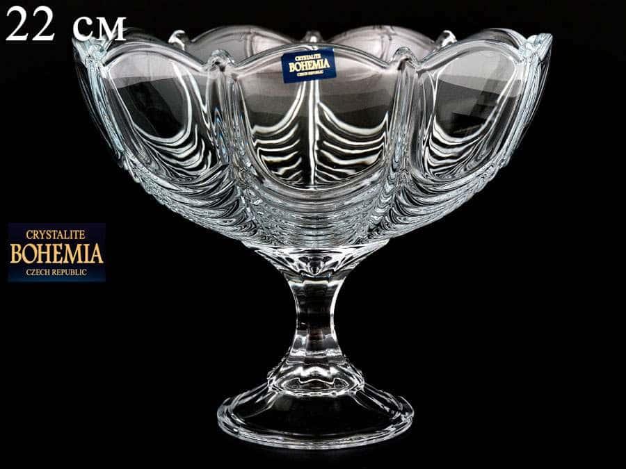 ORION Конфетница Crystalite Bohemia 22 см на ножке
