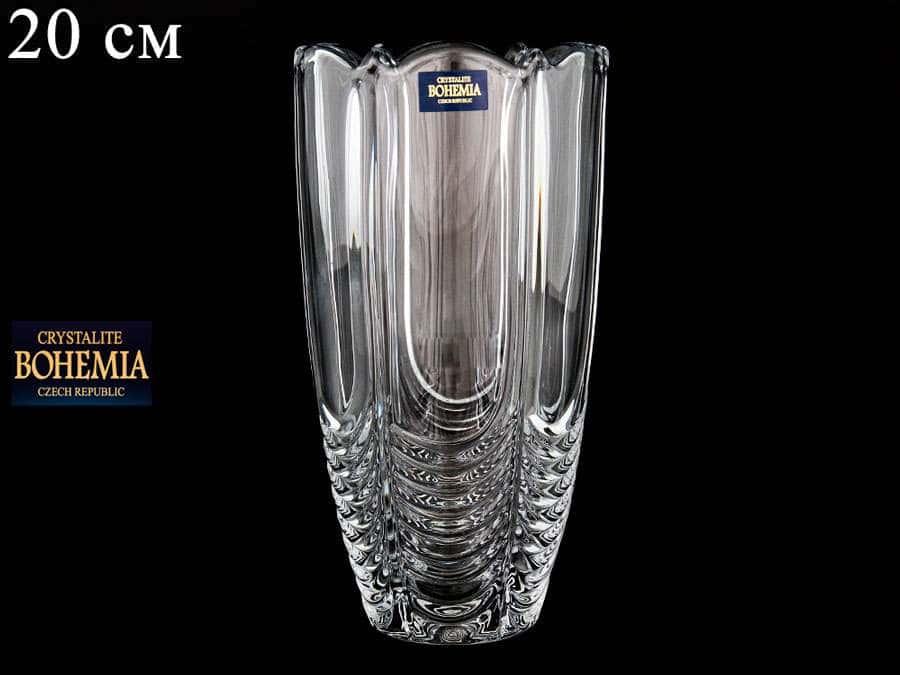 ORION Ваза для цветов Crystalite Bohemia 20 см широкая