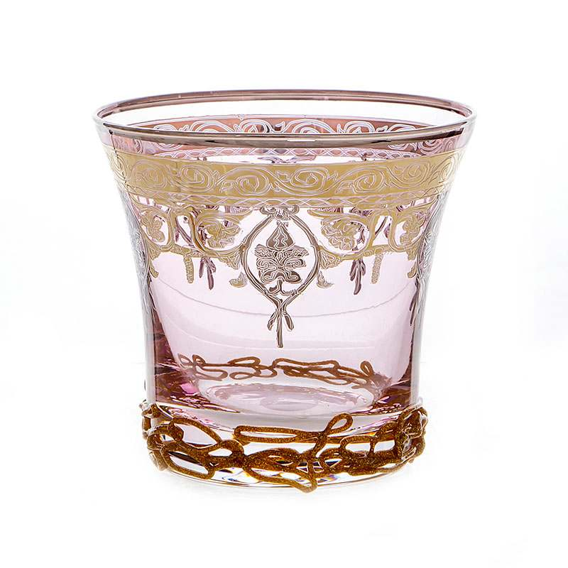 Алессия розовая Набор стаканов для виски Decotech 250 мл.6 шт.