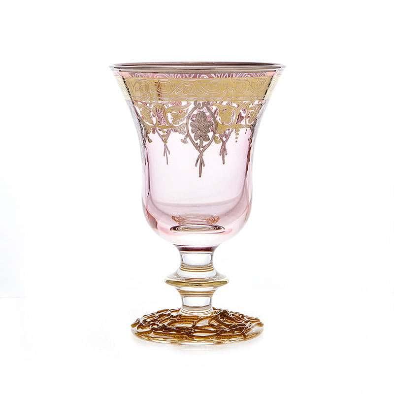 Алессия Розовая Набор бокалов для вина Decotech 250 мл. 6 шт.