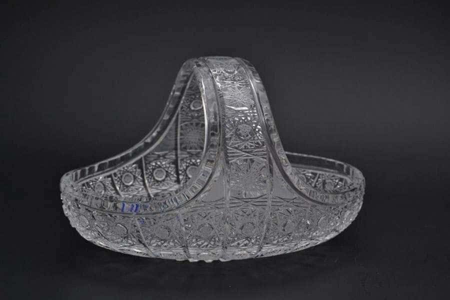Glasspo Корзина 23 см из хрусталя Чехия