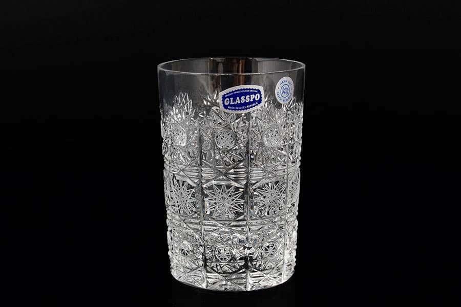 Glasspo  Набор стаканов для воды 280 мл из хрусталя