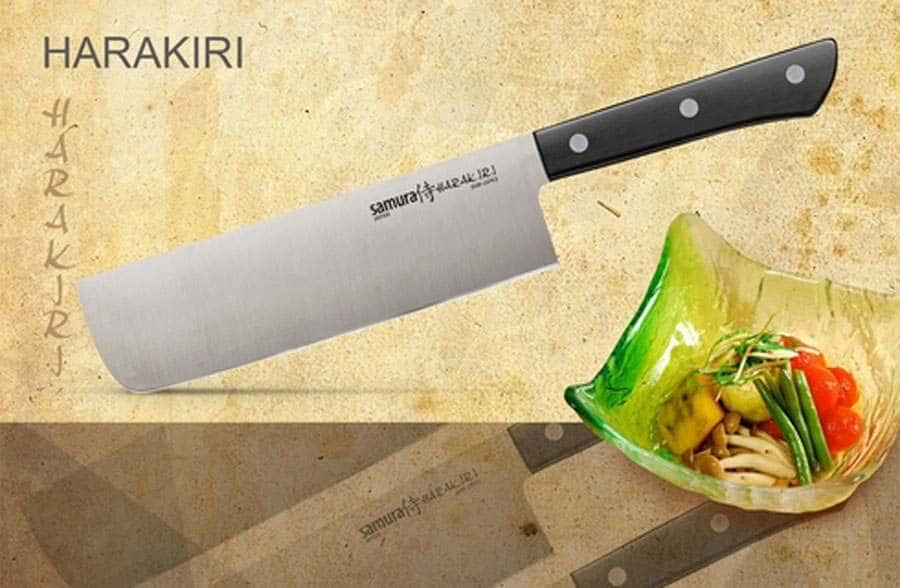 HARAKIRI Нож кухонный накири Samura коррозионностойкая сталь