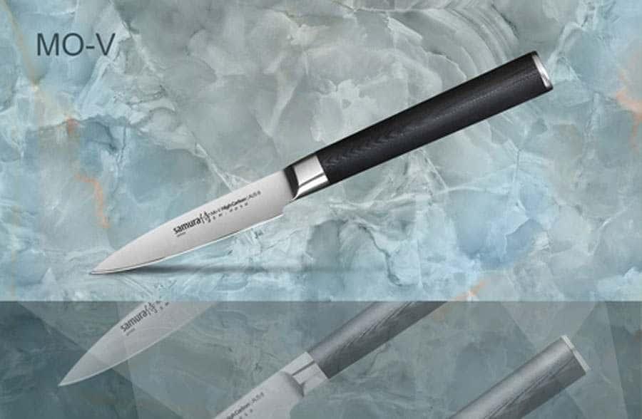 Mo-V Нож кухонный стальной овощной Samura