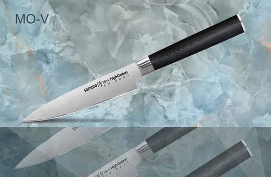 Mo-V Нож кухонный стальной универсальный Samura