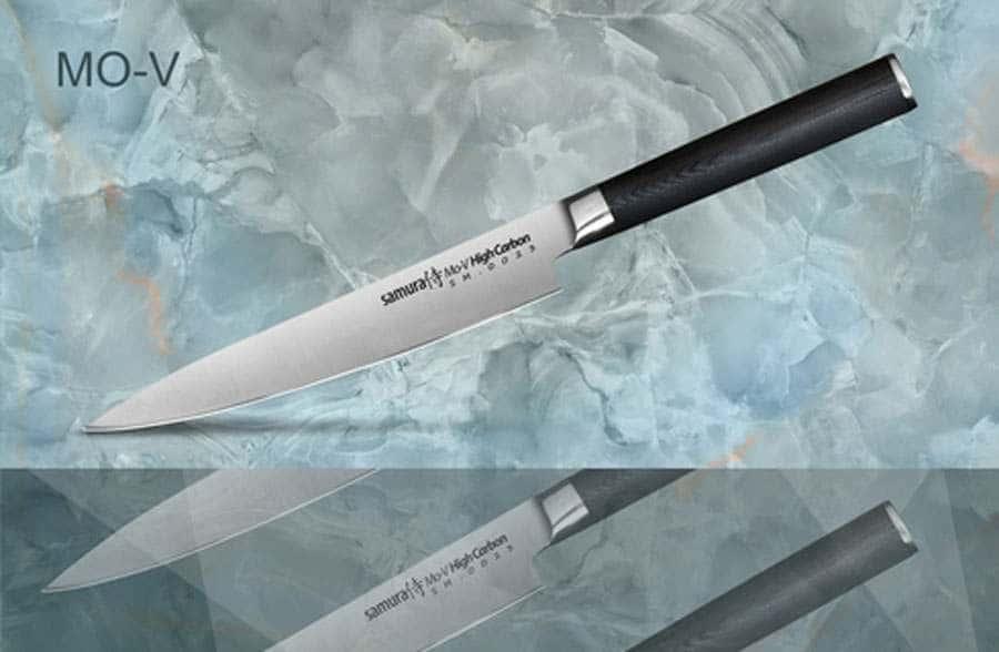 Mo-V Нож кухонный стальной универсальный Samura Япония