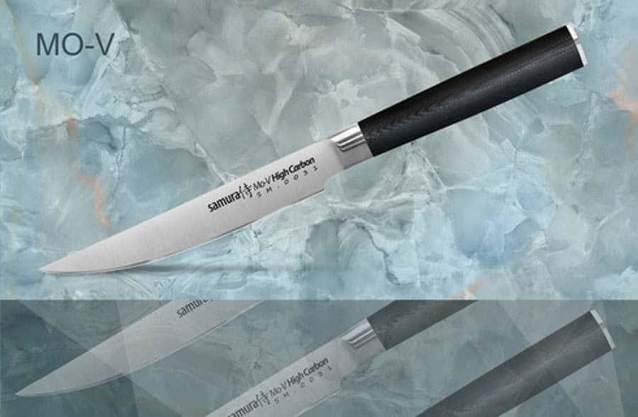 Mo-V Нож кухонный стальной для стейка Samura