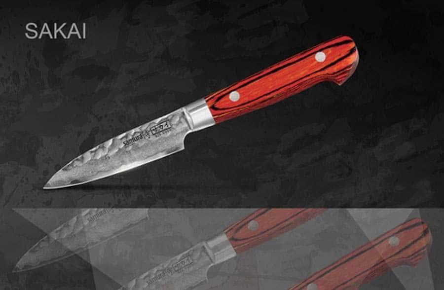 SAKAI Нож кухонный овощной Samura с деревянной рукоятью