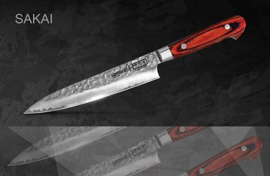 SAKAI Нож кухонный универсальный Samura с деревянной рукоятью