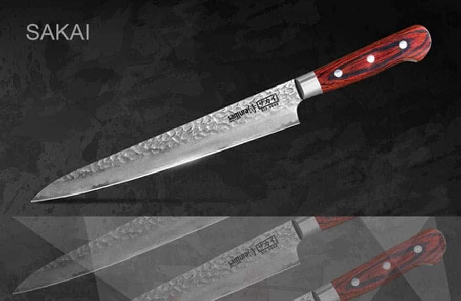 SAKAI Нож кухонный Слайсер Samura с деревянной рукоятью