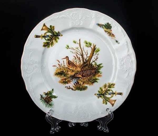 Бернадотт Охота Набор тарелок 19 см из фарфора