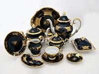Кленовый лист синий Чайный сервиз Weimar Porcellan 55 предметов