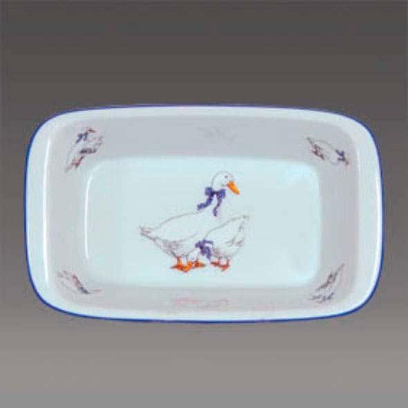 Гуси Блюдо для запекания прямоугольное Thun 17 см жаропрочный фарфор