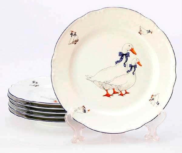 Констанция Гуси Набор тарелок Thun 24 см из фарфора