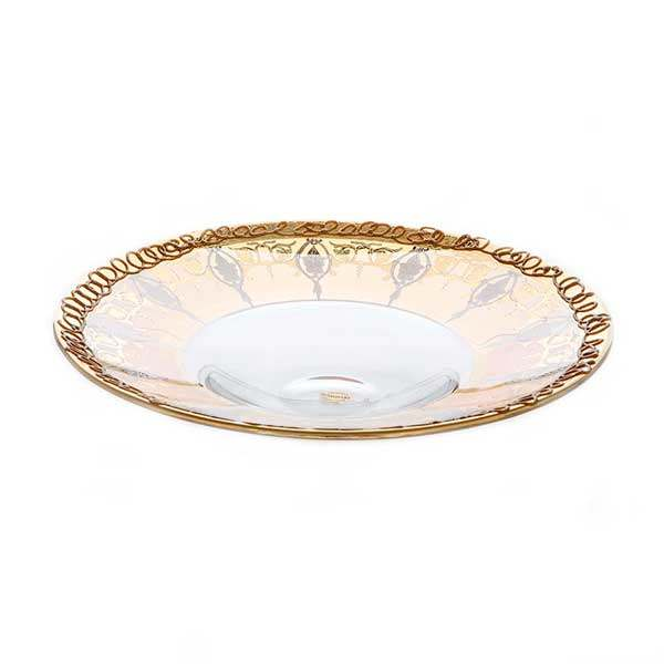 Алессия Блюдо круглое Decotech 35 см. из стекла Италия