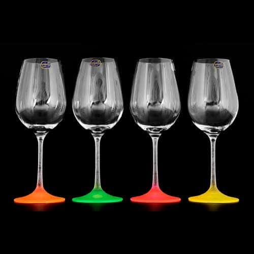 Арлекино Неон Набор бокалов для вина Bohemia Crystal 350 мл