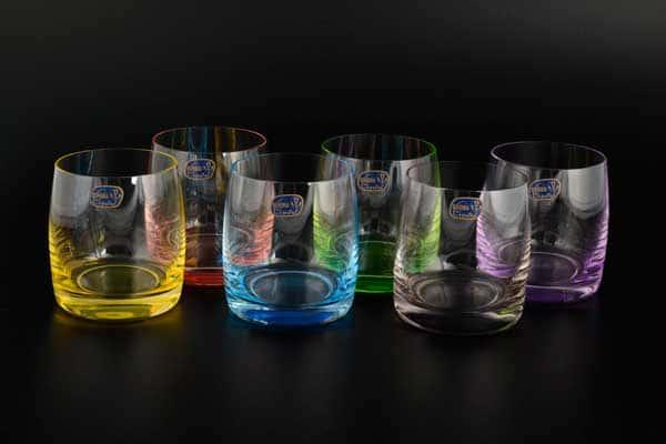 Арлекино Набор стаканов для виски  Bohemia Crystal 290 мл