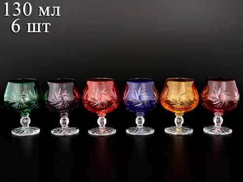 Цветной хрусталь Набор бокалов для бренди Bohemia 130 мл