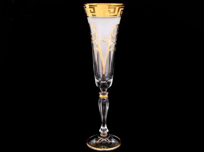 Виктория Костка Набор фужеров для шампанского Bohemia Crystal 180 мл