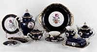 Санкт Петербург Кобальт Чайный сервиз Weimar Porcellan 31 предмет