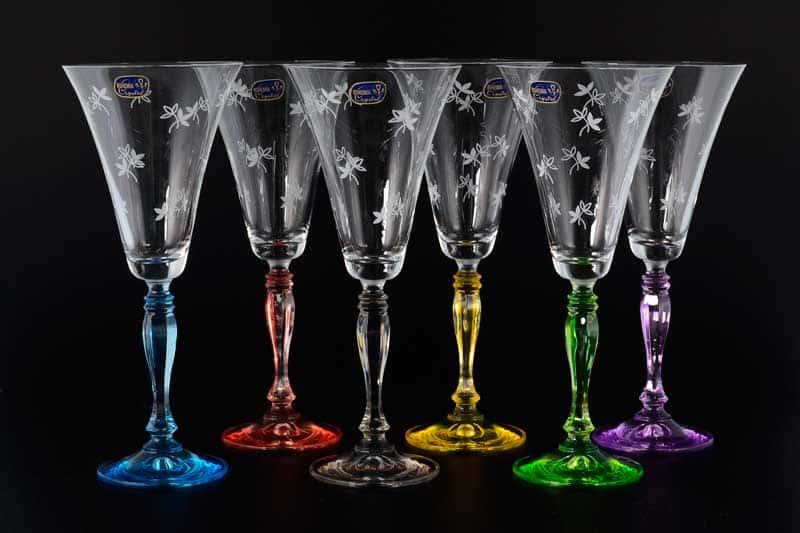 Victoria Engraved Набор бокалов для вина Bohemia Crystal 230 мл