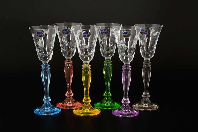 Victoria Engraved Набор рюмок для водки 50 мл Bohemia Crystal