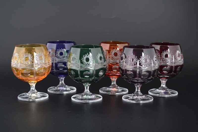 R-G Цветной хрусталь Набор бокалов для бренди Bohemia Crystal 250 мл (6 шт)
