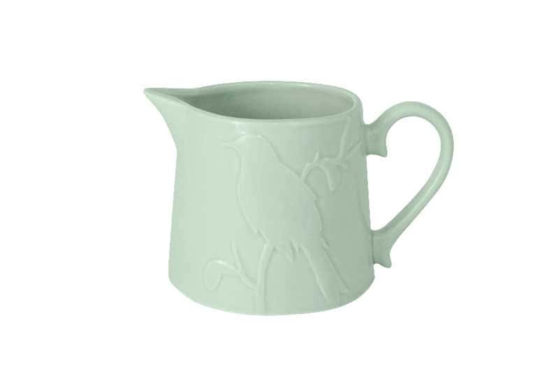 Птицы зеленая Молочник из керамики SantaFe Китай 0,5 л.