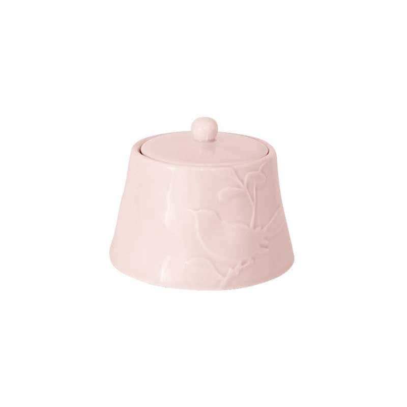 Птицы розовая Сахарница с крышкой SantaFe Китай 0,45 л.