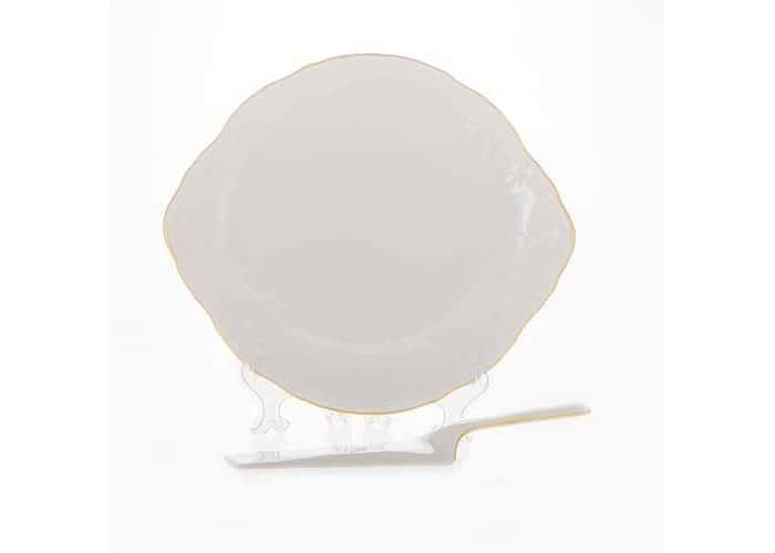 Бернадот белый 311011 Набор для торта 2 пред . с ушками  22247