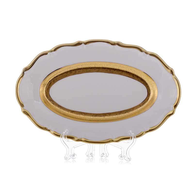 Лента золотая матовая 2 Селедочница Bavarian Porcelain