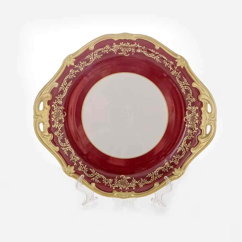 Ювел красный Блюдо круглое Weimar Porzellan 28 см