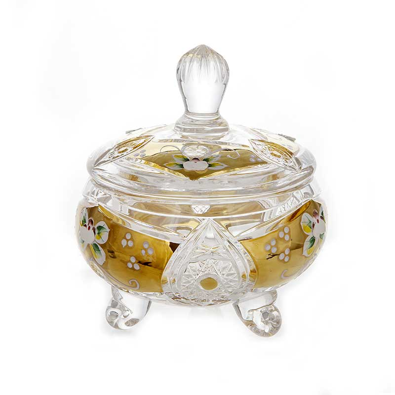 Хрусталь с золотом Доза Acrystal 15,5 см.