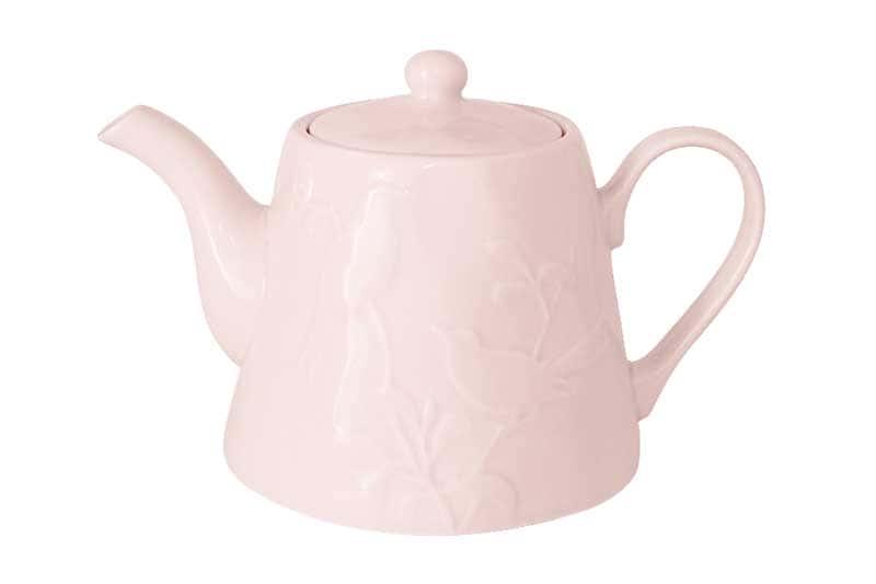 Птицы (розовая) Чайник из керамики SantaFe Китай 1,3 л.