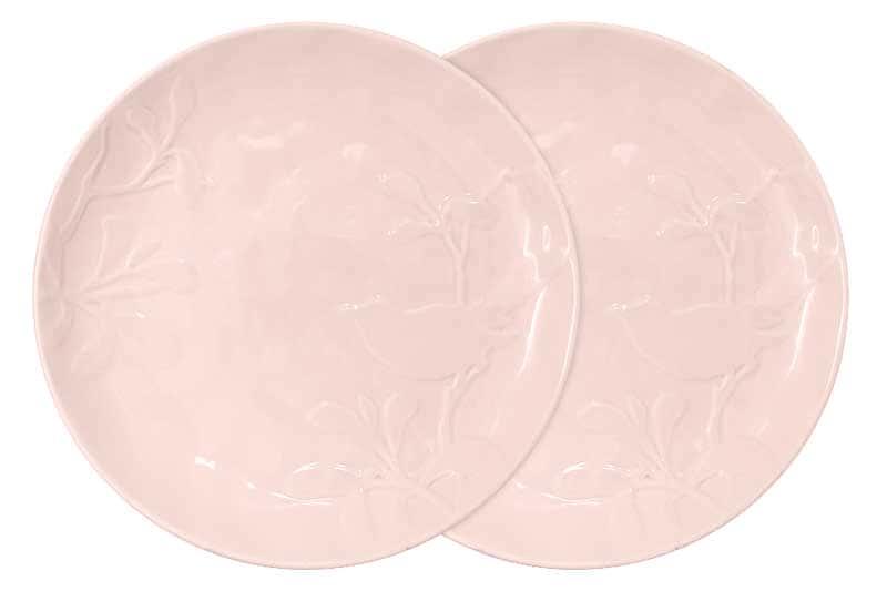 Птицы (розовая) Набор из 2-х обеденных тарелок SantaFe Китай 27 см.