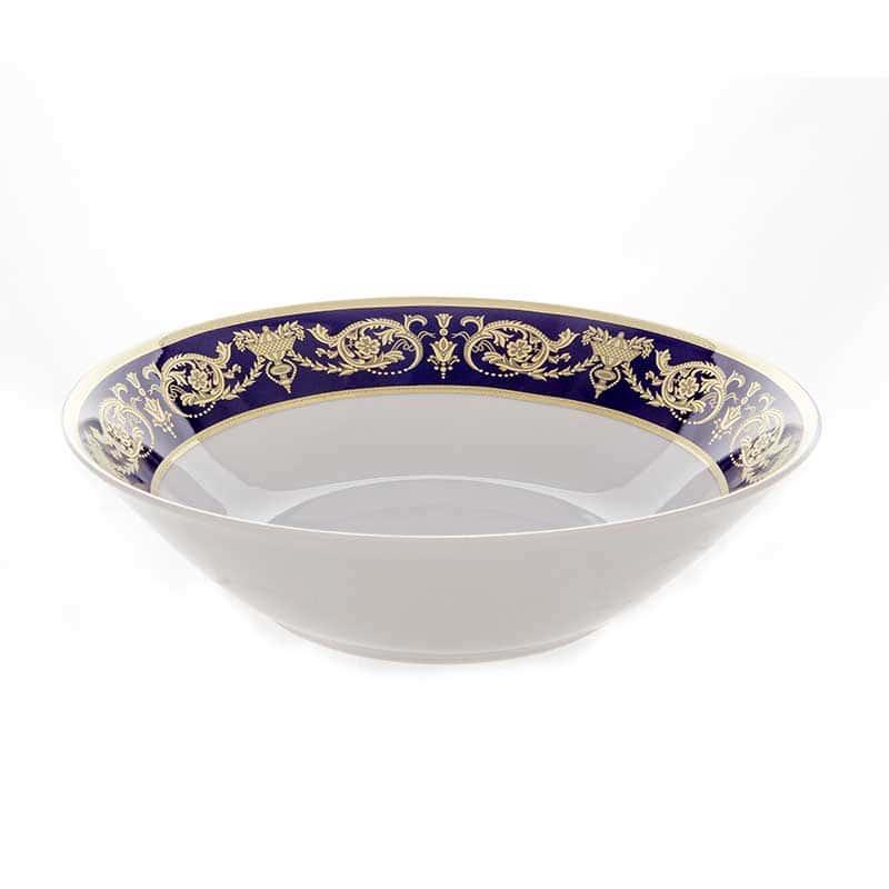 Александрия Кобальт/зол. Салатник круглый Bavarian Porcelain 26 см.