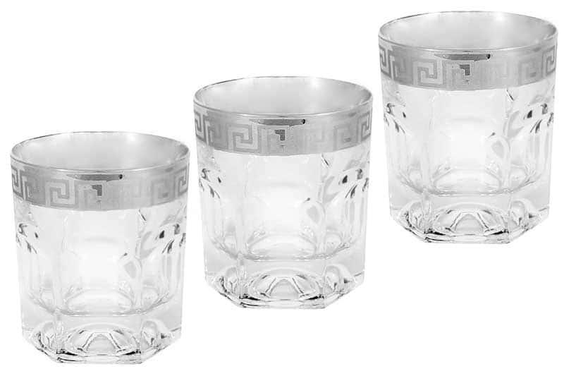 Версаче серебро 6 стаканов для виски Саме (Same) из Италии