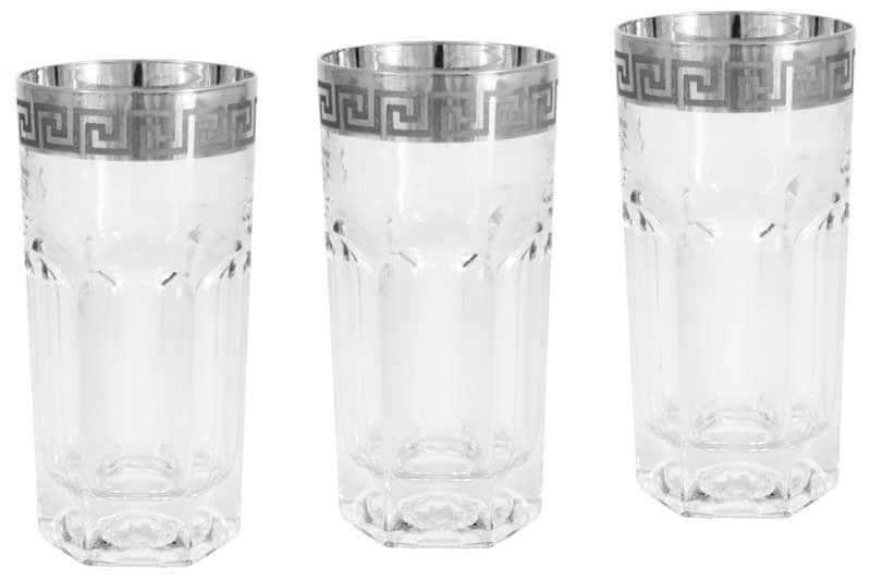 Версаче серебро 6 стаканов для воды Саме (Same) Италия 0,35 л.