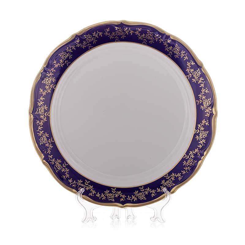 Барокко кобальт 202 Блюдо круглое Bavarian Porcelain 32 см