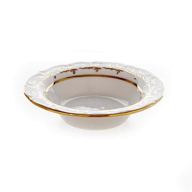 Лист белый Набор розеток Bavarian Porcelain 8 см. 6 шт.