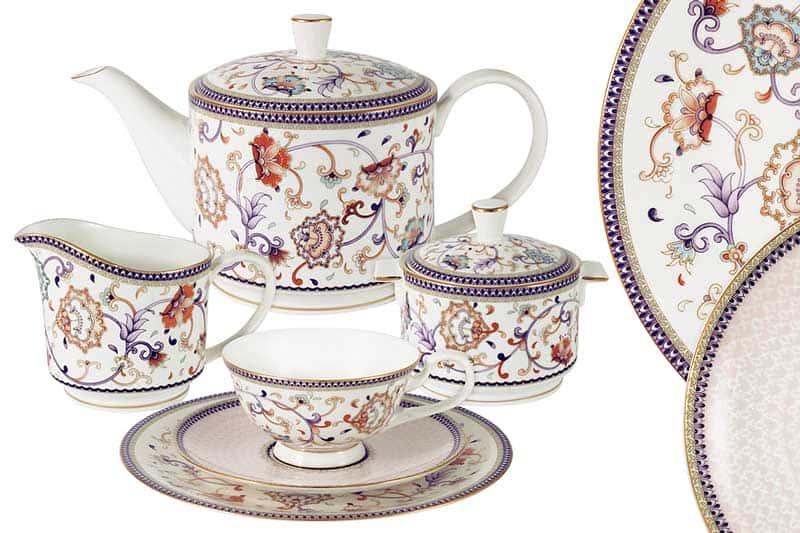Королева Анна Чайный сервиз 21 предметов на 6 персон Эмили (Emily) из Китая