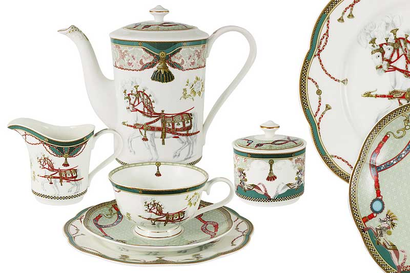 Эдинбург Чайный сервиз 21 предмет на 6 персон Эмили (Emily) из Китая