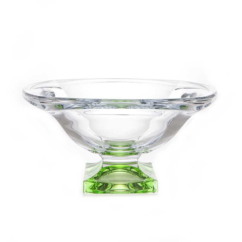 Магма Зеленая Ваза для фруктов Crystalite Bohemia 34 cм 32144