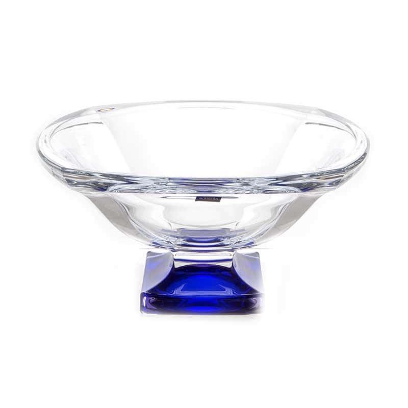 Магма Синяя Ваза для фруктов Crystalite Bohemia 34 cм 32142
