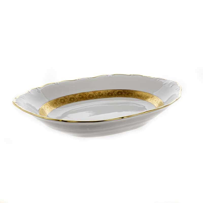 Лента золотая матовая 2 Хлебница Bavarian Porcelain