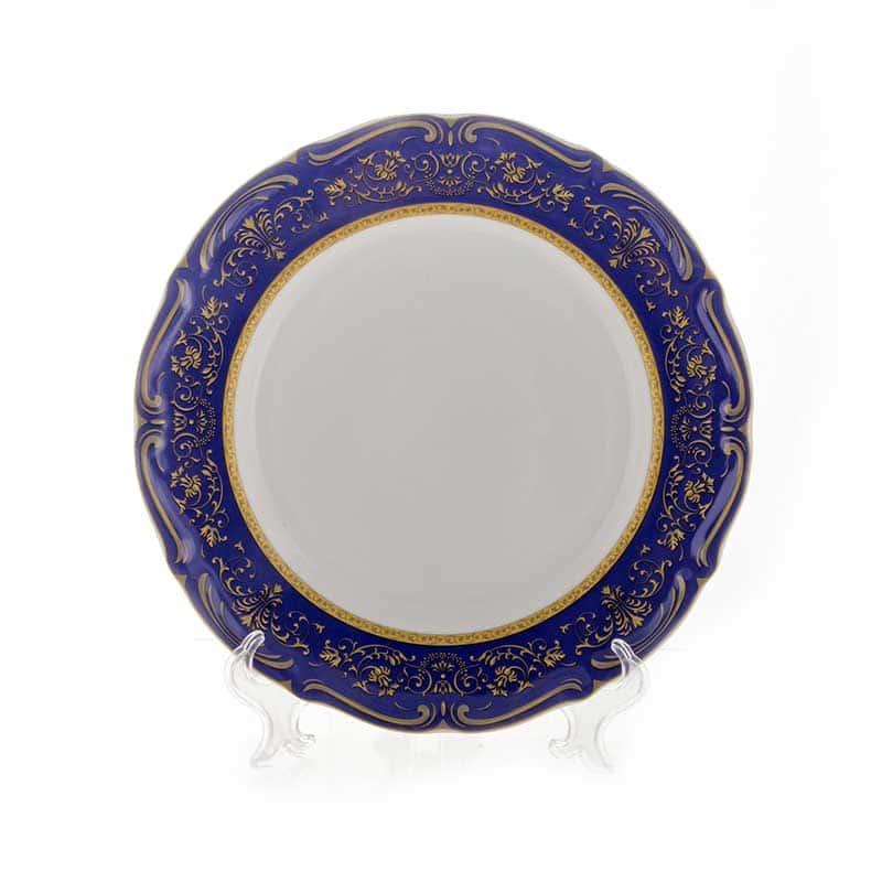 Мария Тереза-Элеганз кобальт Набор тарелок Bavarian 24 см. 6 шт.