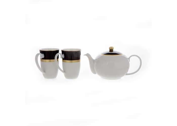 Веймар черный Набор для чая из 3 предметов Германия