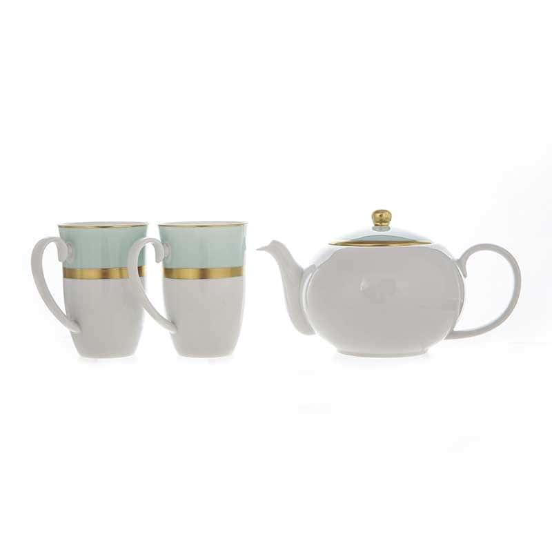 Веймар голубой Набор для чая из 3 предметов Германия