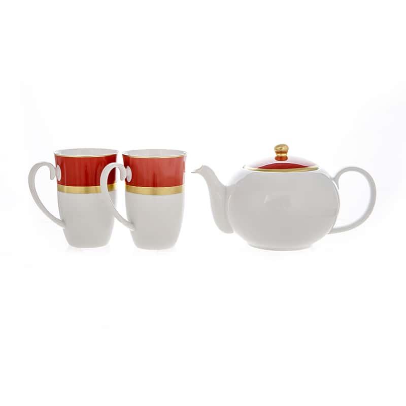 Веймар красный Набор для чая из 3 предметов Германия